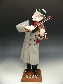 Vintage 2001 Simpich Character Doll 13 Fiddler Violin Man