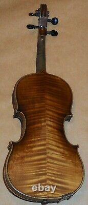 Vintage Antique 4/4 Old Violin Label Inside