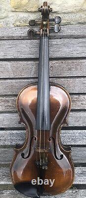 Vintage Antique German Copy Stainer Violin c1920s Grafted Scroll 4/4