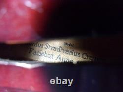 Vintage Antique Violin Stradivarius Copy Full-sized 4/4 with Case T
