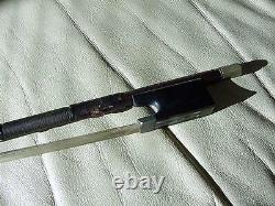 Vintage Violin Bow With Abalone Inlays