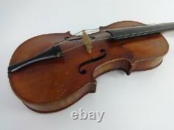 Vintage Violin Stradivarius Replica Hutton School Of Music Glasgow 1950s + Bow