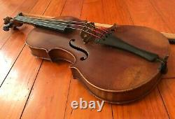 Vintage Violin with Bow & Extras. Antique Fiddle. Strad Copy Made in Germany