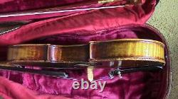 Vintage violin 4/4 antique fiddle old used Gillard and Ber nardel