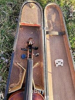 Vintage violin antique Bohemian German French mirecourt