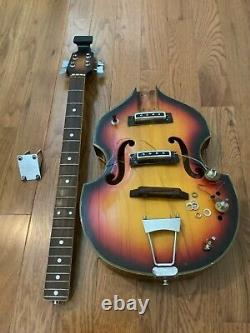 Vintage violin bass guitar beatle bass project as is made in Japan