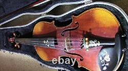 Violin 4/4 Fiddle old Antique Vintage used Beautiful inlaid