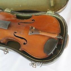 Vtg / Antique Antonius Stradiuarius Faciebat Anno 17 Violin 4/4 Very Nice