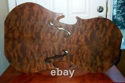 Vtg CELLO VIOLA Violin Accent TABLE Hand Crafted Burl Wood