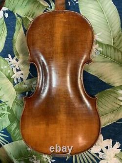 14.8 Old Antique 4/4 Français Viola C. Flambeau Vintage 200 Ans