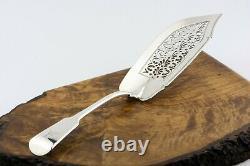 1835 Antique Silver Fish Slice Server Par William Knight II Heavy 5 Troy Oz Crest
