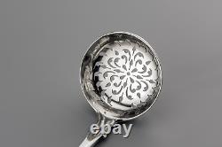 1856 Elizabeth Eaton Fiddle Sterling Silver Sugar Sifter Cuillère 1,33 Troy Oz