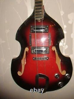 1960 Cremona Violon Basse Guitare Kremona Vintage Et Rare