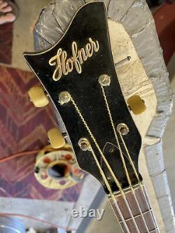 1965-66 Höfner 500/1 Violon T-burst Beatle Vintage Hofner Basse Avec Étui