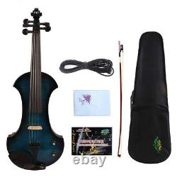 5string 4/4 Violon Électrique Big Jack Nice Son Bois Massif Violin Case Bow #ev19