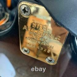 70's Aria Violon Ajustable Collier Vintage Basse Guitare Fabriqué Au Japon S/n 0114346