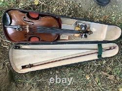 Antique Vintage E Martin 4/4 Amati Violon Copy Allemagne W Two Bows