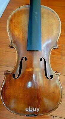 Antique, Vintage, Vieux Violon Allemand Étiqueté Antonio Stradivarius #8