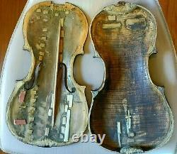 Antique, Vintage, Vieux Violon Sans Étiquette Allemand. #10