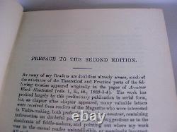 Antique Vtg Couverture Rigide Livre Violon Faisant Comme IL Était Et Est Par Ed Heron Allen