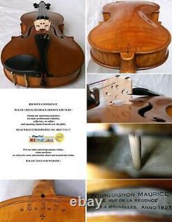 Beau Vieux Maître Français Violon Bourguignon 1925 -vidéo- Antique 858