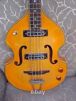 C. 1967 Vieille Guitare Japonaise Violon-body Beatle Basse