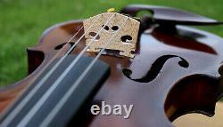 Écoutez La Vidéo! 4 / 4 Très Beau Vieux Violon Bohème, Vers 1910