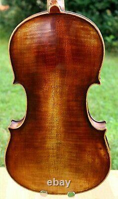 Écoutez La Vidéo! Old Fin19ème Siècle Antique Allemagne Violon, Full And Deep Sound