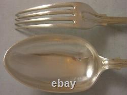 Également 1962 Fiddle Thread Silver Canteen Cutlery 11062 Grammes 18 Mise En Place