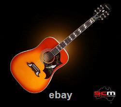 Epiphone Dove Studio Acoustique Guitare Électrique Violon Burst Pro-scm Configuration
