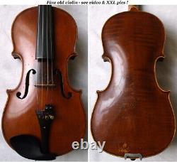 Fin Vieux Allemand 3/4 Violon Vers 1930 Vidéo Rare Antique 309