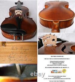 Fine Old Allemand Master Violin Paul Prager -vidéo- Rare Antique 939
