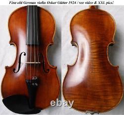 Fine Old German Master Violin Guetter Vidéo Rare Antique 191