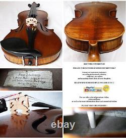 Fine Old German Violin Franz Schallowetz Vidéo- Antique Rare 116