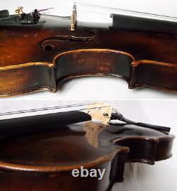 Fine Old Lionhead Violon Vidéo Antique Rare Lion Head 307