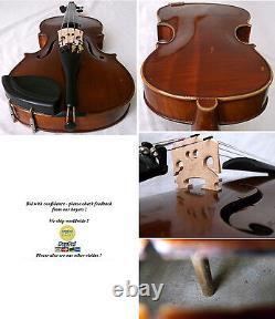 Fine Old Violin 1950 Voir Video Antique Violino Master 531