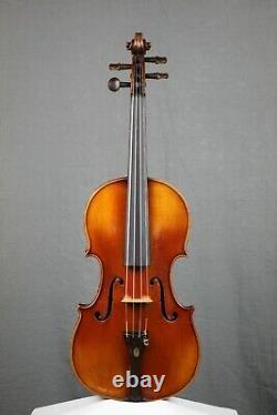 Français Violon, Vers 1910 (prêt-à-jouer) Antique, Vintage, Vieux Violon
