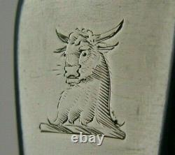 Géorgie Sterling Silver Torence Familiale Bull Cressee Ladle Anticique 1824 62g