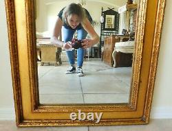 Grand Antique/vtg 45 Gold Wood Syroco Instrument Violin Hanging Wall Mirror