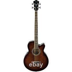 Ibanez Aeb10e Guitare Basse Électrique Acoustique, Violon Foncé Sunburst High Gloss
