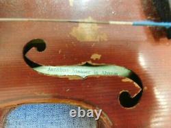 Jacobus Stainer Dans Absam Violon + Cornière Kronotone Tailpiece Antique Vintage