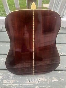 Japon Vintage Kiso Suzuki Violin Co. Guitare W-260 Bb Estate Trouvé