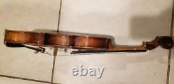 Make Of Distinction Violin Instrument Case Rare Vintage Antique No Bow Inclus