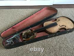 Mathias Neuner Violon 1881 Nro. 94 Mittenwald Antique Vintage Pour La Réparation Luthier