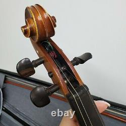 Nice Antique Vieux Violon Allemand Kersting Avec Cas & Bow