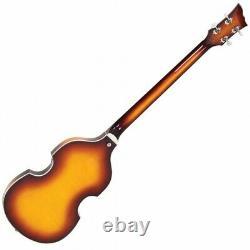 Nouveau! Vintage Marque Vvb4sb Violon Beatles Basse Guitare Avec Boîtier