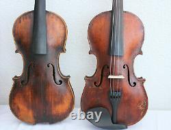 Offre Spéciale! Des Vieux Violons De 4psc! Quatre Violons D'antiquité/vintage. Pas De Réparation