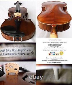 Old Allemand Master Violin Rudolf Goetz 1934 Vidéo Antique 252