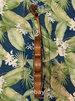Old Antique 4/4 Français Violin J Barbe Vintage Vers 1880