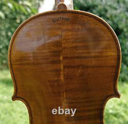 Old Antique Allemagne 19ème Siècle Violin -listen À La Vidéo! Modèle Stainer